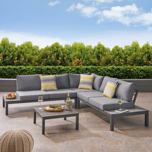 Mcnally 4 Piece Sectional Seating Group with Cushions
