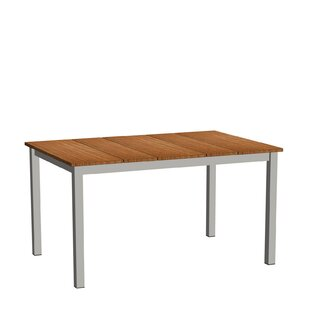 Nelson Stainless Steel And Teak Dining Table By Niehoff Garden