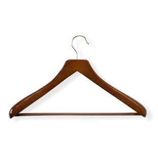 Best Reviews Curved Wood Suit Hanger ByHoney Can Do