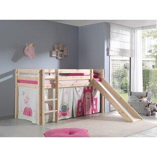 Escalera European Single Mid Sleeper Bed By Zoomie Kids
