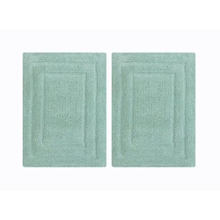 Cressida Rectangular Shape Cotton Bath Rug (Set of 2)