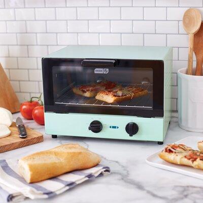DASH 4 Slice Toaster Oven  Color: Aqua