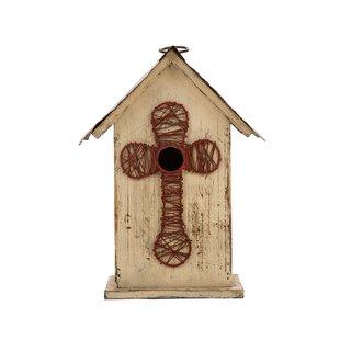 Glitzhome Cross 11in x 5in x 7in Birdhouse