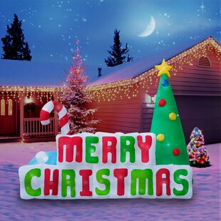 giant merry christmas sign inflatable