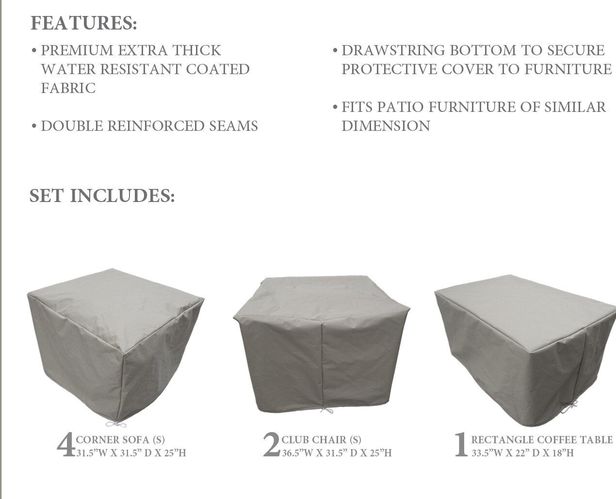 Wondrous Belle 7 Piece Patio Furniture Cover Set Download Free Architecture Designs Scobabritishbridgeorg