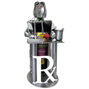 Female Pharmacist 1 Bottle Tabletop Wine Rack