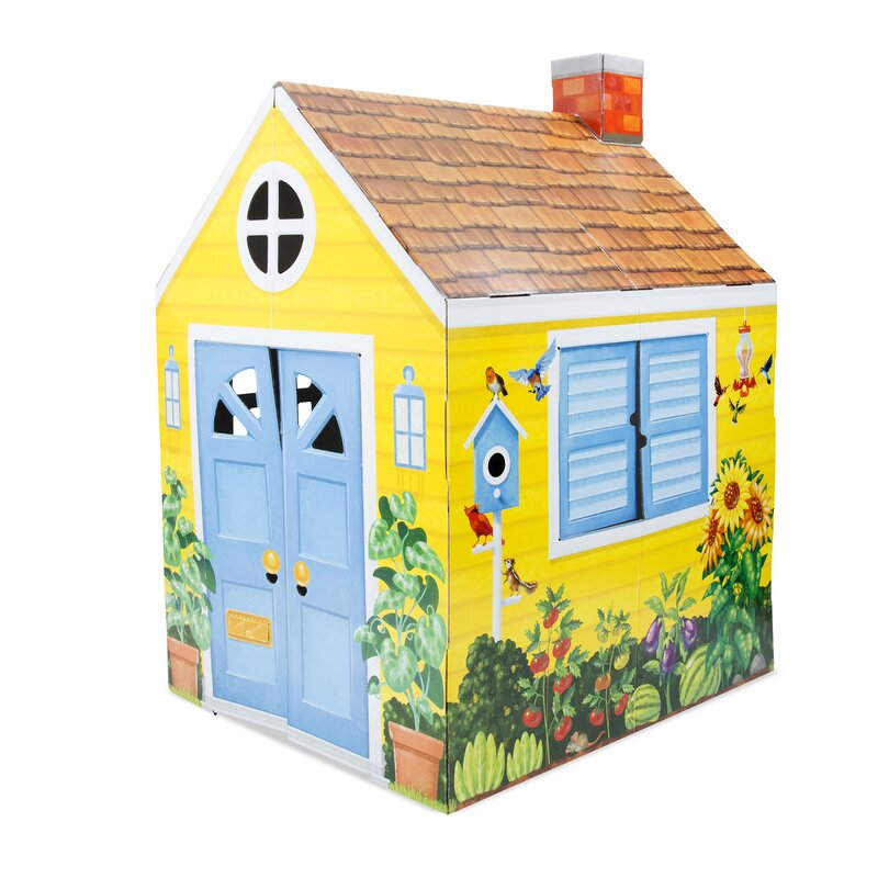 Cardboard Structure Cottage 3 25' x 2 78' Playhouse