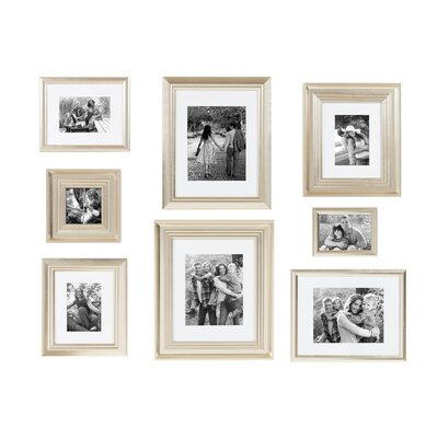 Three Posts 8 Piece Syston Gallery Picture Frame Set Colour: Champagne