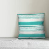 Donovan Abstract Sketched Stripes Indoor/Outdoor Throw Pillow