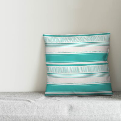 Donovan Abstract Sketched Stripes Indoor/Outdoor Throw Pillow by Breakwater Bay Cool