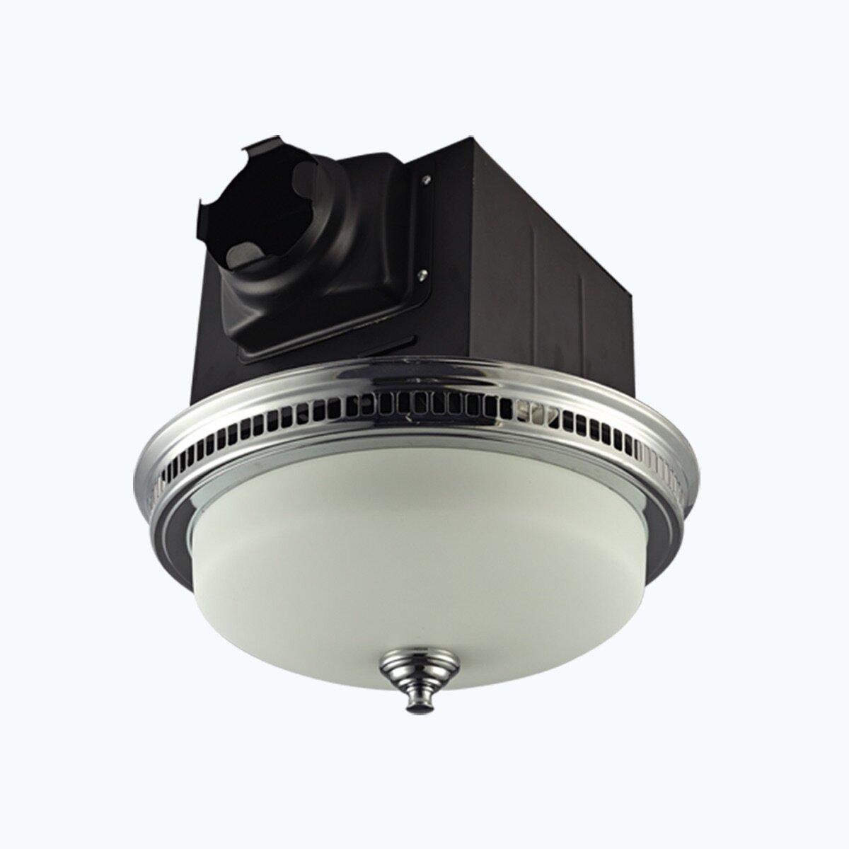 Drnd110crm 110 Cfm Bathroom Fan With Light