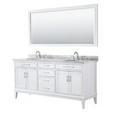 Margate 72 Double Bathroom Vanity Set with Mirror by Wyndham Collection