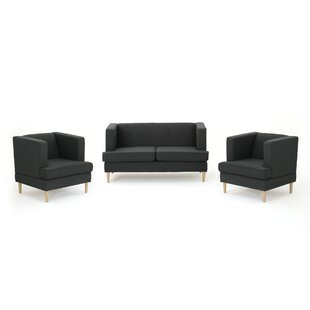 Affordable Lindbergh 3 Piece Living Room Set by Mercury Row Reviews (2019) & Buyer's Guide