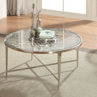 Rilla Modern Round Metal Coffee Table