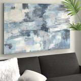 'In The Clouds' - Wrapped Canvas Print in Gray/Indigo by Mercury Row®