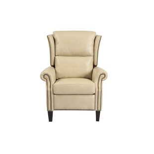 Moyern Leather Manual Recliner by Canora Grey