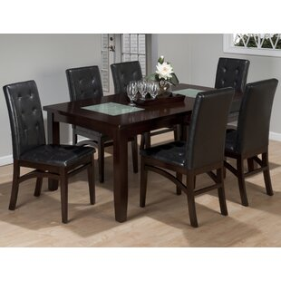 Roberto 7 Piece Extendable Solid Wood Dining Set Red Barrel Studio