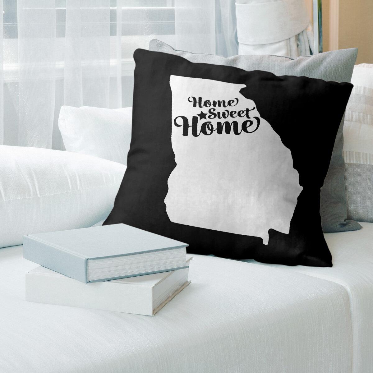 East Urban Home Home Sweet Throw Pillow Wayfair