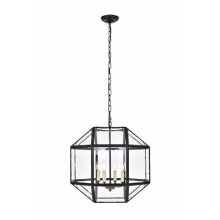 Burkeville 4-Light Geometric Chandelier by Ivy Bronx