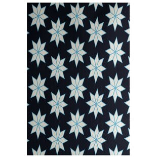 Christmass Geometric Blue Indoor/Outdoor Area Rug