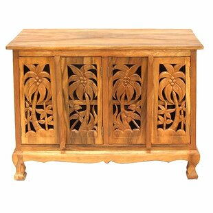 Handmade Acacia Coconut Palm Accent Cabinet by EXP D?cor