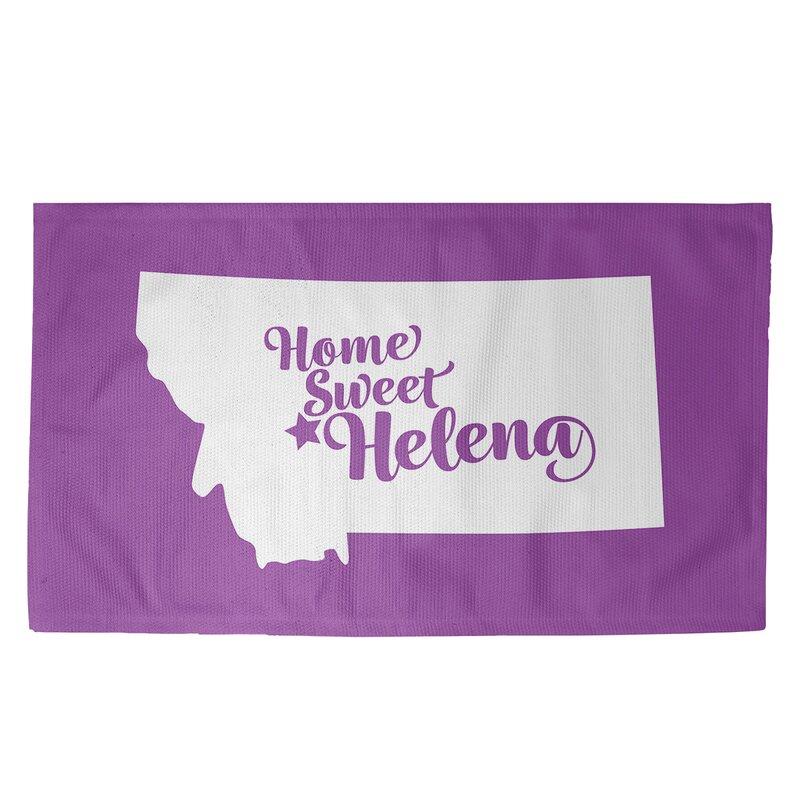 East Urban Home Helena Montana Purple Area Rug Wayfair