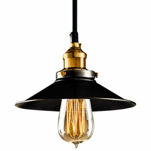 Cruise 1-Light Cone Pendant by Williston Forge