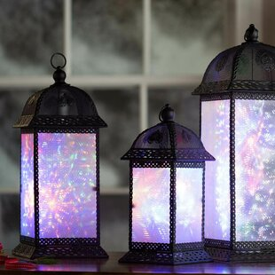 Color Changing Twirling Starlight 3 Piece Decorative Lantern Set