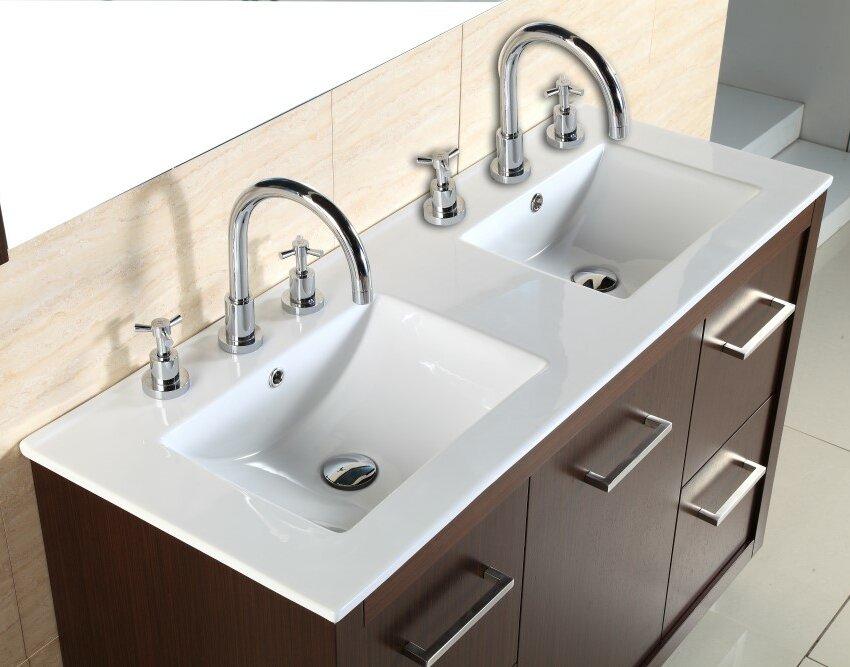 double sink with vanity. 48  Double Sink Vanity Set Bellaterra Home Reviews Wayfair