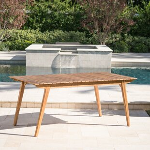 Lindquist Outdoor Wooden Dining Table