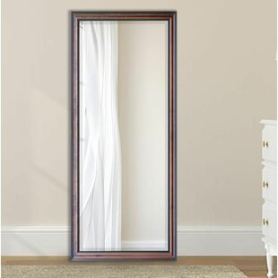 Great Price Rincon Classy Walnut Beveled Wall Mirror By Three Posts