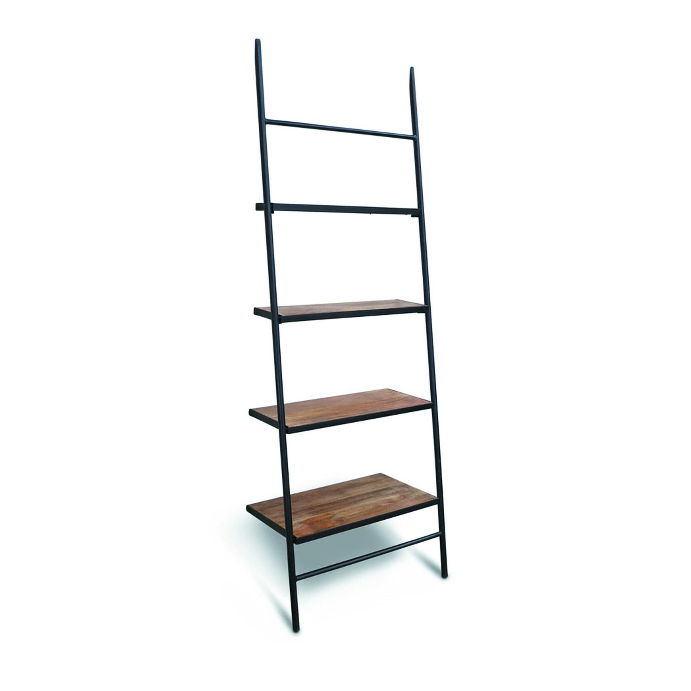 Burkholder Wood Leaning Ladder Bookcase