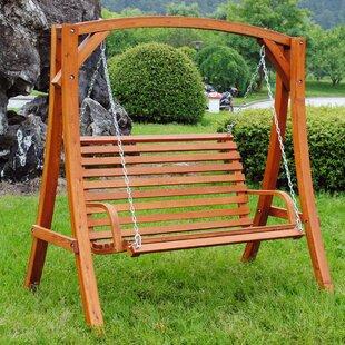 Waylon Larch Wood Swing Seat Image