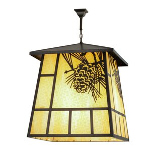 Meyda Tiffany Greenbriar 4-Light Lantern Pendant