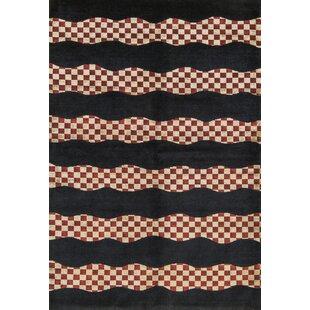 One-of-a-Kind Himalayan Art Handwoven 6'4 x 9'4 Wool Black Area Rug ByBokara Rug Co., Inc.