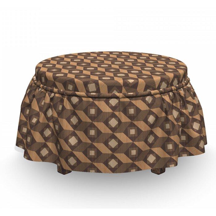 Terrific Angled Stripes Square Ottoman Slipcover Ibusinesslaw Wood Chair Design Ideas Ibusinesslaworg