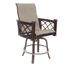 La Reserve Sling Swivel Patio Bar Stool