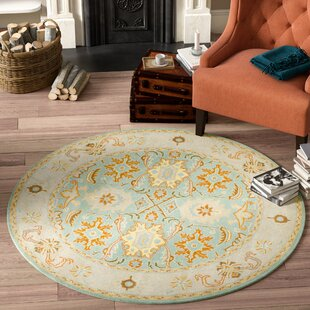 Chaim Hand-Tufted Wool Blue Area Rug by Darby Home Co
