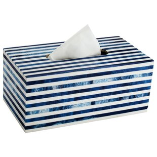 Wrought Studio Indie Stripped Tissue Box Cover