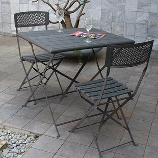 Boyter 3 Piece Bistro Set by Wrought Studio 2019 Coupon