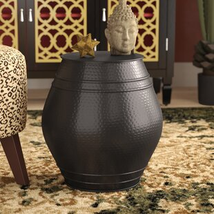 Mayer Moroccan Hammered Accent Stool by World Menagerie