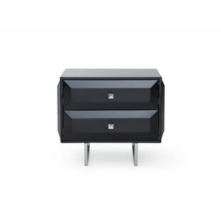 Read Reviews Sicard 2 Drawer Nightstand by Orren Ellis