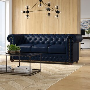 Forsyth Leather Chesterfield Sofa