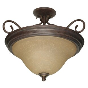 Claycomb Semi Flush Mount by Fleur De Lis Living