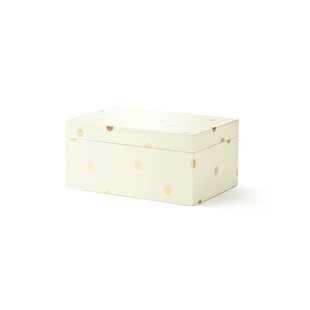 Reviews Lacquer Jewelry Box (Large), Gold Scatter Dot By kate spade new york