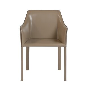 Wade Logan Colten Genuine Leather Upholstered Dining Chair