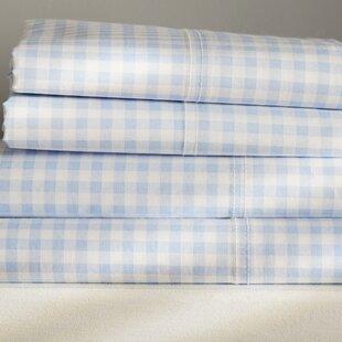 Charming Blue Gingham Sheets | Wayfair