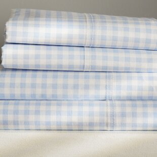 Roanoke Gingham 250 Thread Count Sheet Set