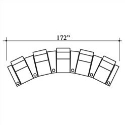 Olympia Leather Home Theater Row Seating Row of 5 by Bass