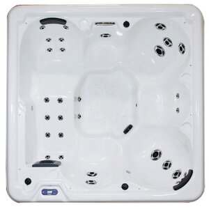 6-Person 31-Jet Spa with LED Lights and Lounger